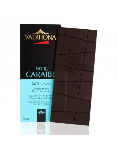 Chocolat Noir Caraïbe 66% cacao - Valrhona
