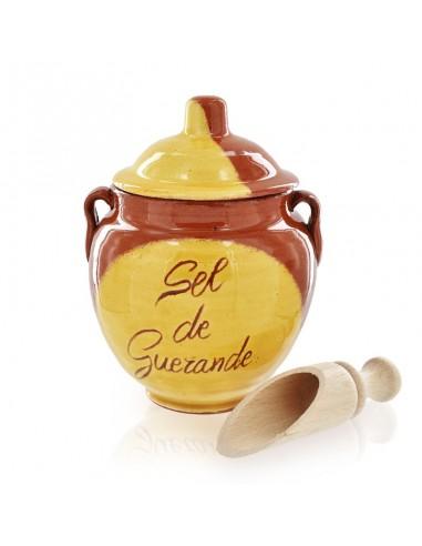 Pot terre Guérande et 200g de Sel gris de Guérande et pelle