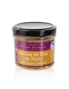 Terrine de foie de Porc aux Pommes caramel 100g – Roland Denoual