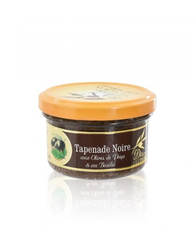 Tapenade Olive noir au basilic de Provence 90g