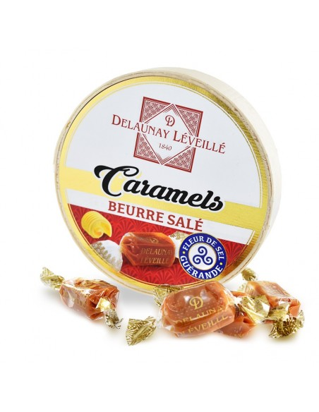 Caramels au beurre salé boîte camembert 75g