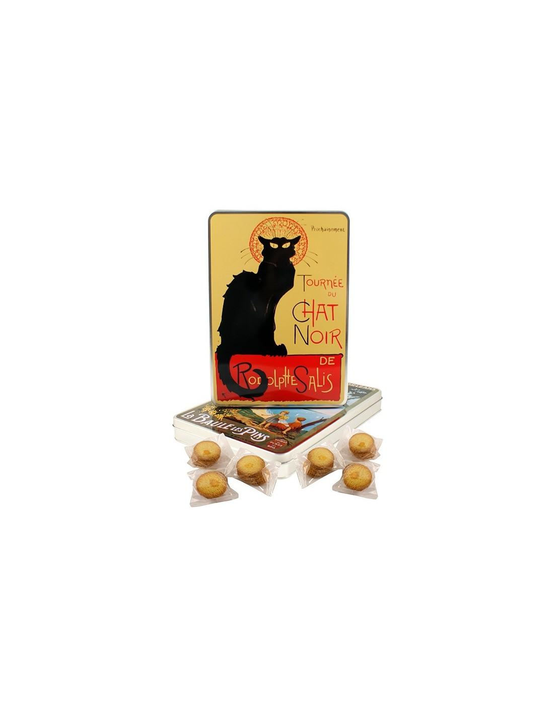 bo te a4 tourn e chat noir garnie produits r gionaux biscuits bretons. Black Bedroom Furniture Sets. Home Design Ideas