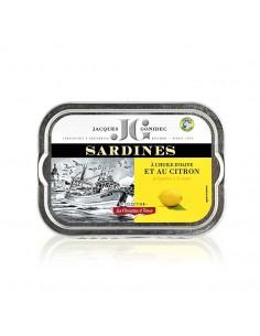 Sardines à l'huile d'olive vierge extra et au citron bio
