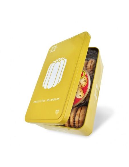 Boîte Canelé garnie de Biscuits pépites d'Aquitaine
