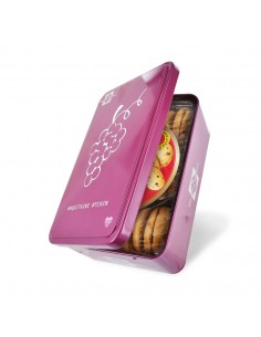 Boîte Grappe de Raisins garnie de Biscuits pépites d'Aquitaine