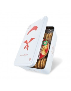 Boîte Beret Pays Basque garnie de Biscuits pépites chocolat