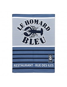 Torchon Breton Homard Bleu Sophie C.