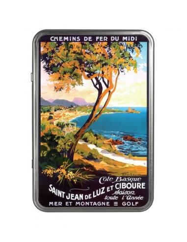 """"""" Saint Jean de Luz et Ciboure """" - Boîte garnie de biscuits"""