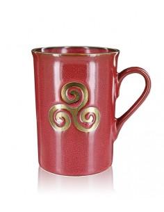 Mug Triskel rouge & or