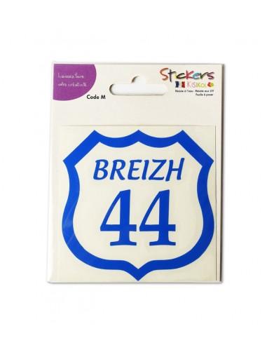 """Autocollant """"44 en Bretagne""""   Sticker résistant"""