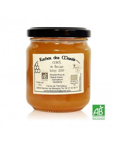 Miel de Bocage Bio Pot 250g - Rucher des Marais