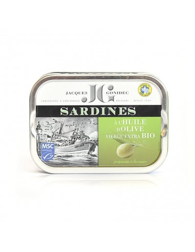 Sardines à l 'huile d'olive BIO