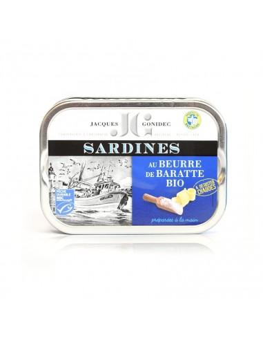 Sardines au beurre de baratte BIO
