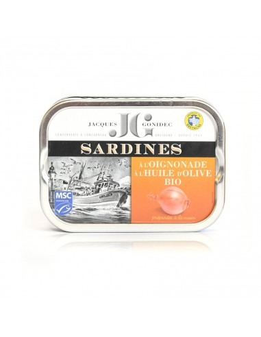 Sardines oignonade à l'huile d'olive BIO