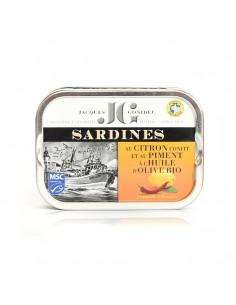 Sardines au citron confit et au piment à l'huile d'olive BIO