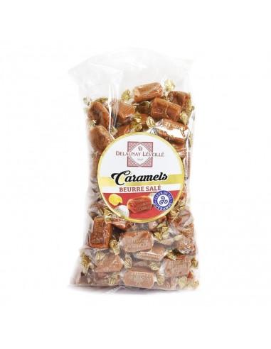 Caramels au beurre salé sachet 1Kg fleur de sel de Guérande