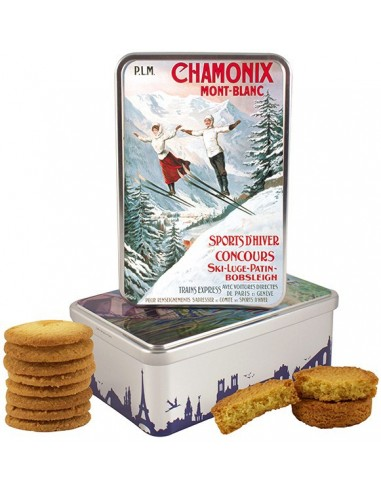 bo te sucre chamonix 2 skieurs garnie produits r gionaux biscuits. Black Bedroom Furniture Sets. Home Design Ideas