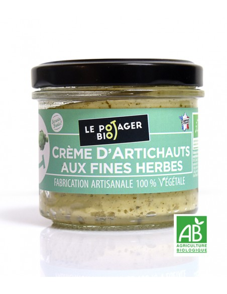 Creme d'artichaus aux fines herbes - BIO - 100% végétale
