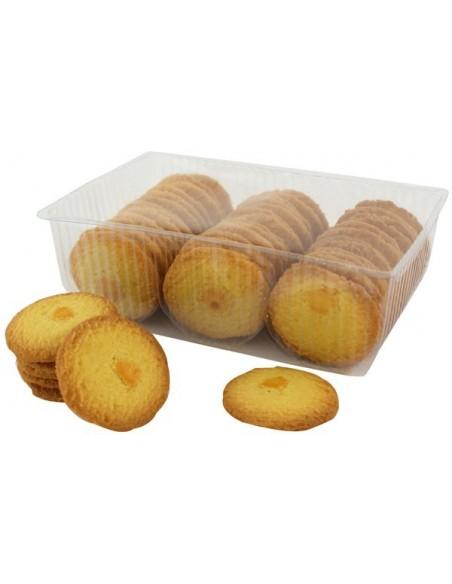 Boîte à sucre en fer Lannion - Escalier de Brélevenez garnie de biscuits