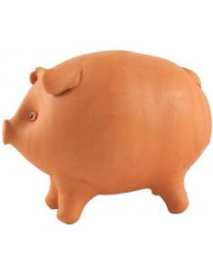 Tirelire cochon en argile (Taille M)