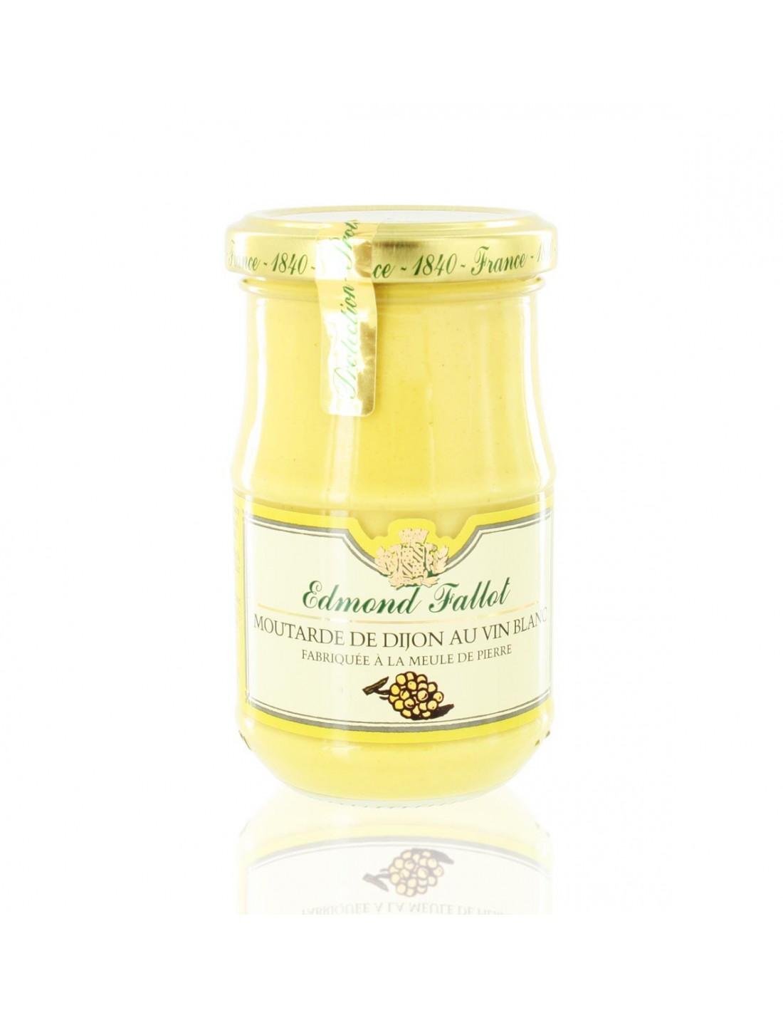 tresorsdesregions edmond fallot moutarde 210g dijon vin blanc terroir. Black Bedroom Furniture Sets. Home Design Ideas
