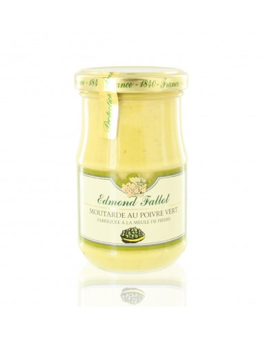 Moutarde au Poivre Vert 210g - Edmond Fallot